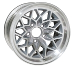 17 X 9 SILVER WHEEL SNOWFLAKE ALUMINUM SET OF 4