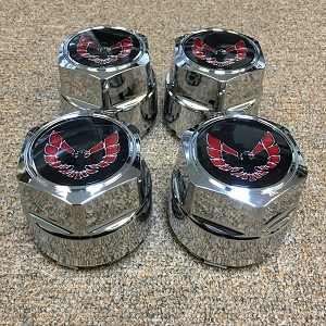 WHEEL CENTER CAP WITH RED EMBLEM 79-81 WITH BRACKET  (SET OF 4) N89